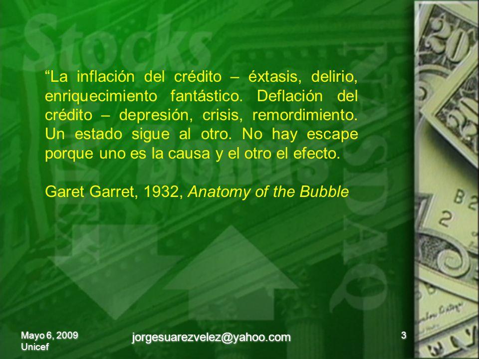 La inflación del crédito – éxtasis, delirio, enriquecimiento fantástico.