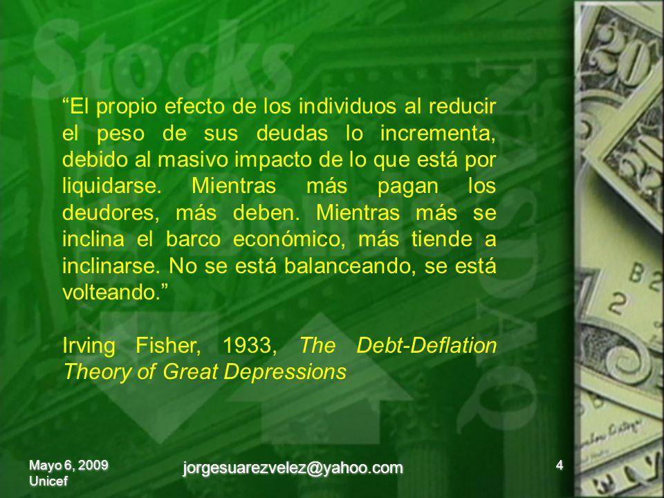 El propio efecto de los individuos al reducir el peso de sus deudas lo incrementa, debido al masivo impacto de lo que está por liquidarse.