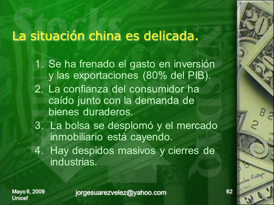 La situación china es delicada.