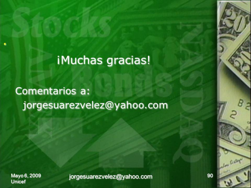 .. ¡Muchas gracias. Comentarios a: jorgesuarezvelez@yahoo.com ¡Muchas gracias.