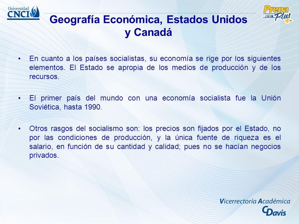En cuanto a los países socialistas, su economía se rige por los siguientes elementos. El Estado se apropia de los medios de producción y de los recurs