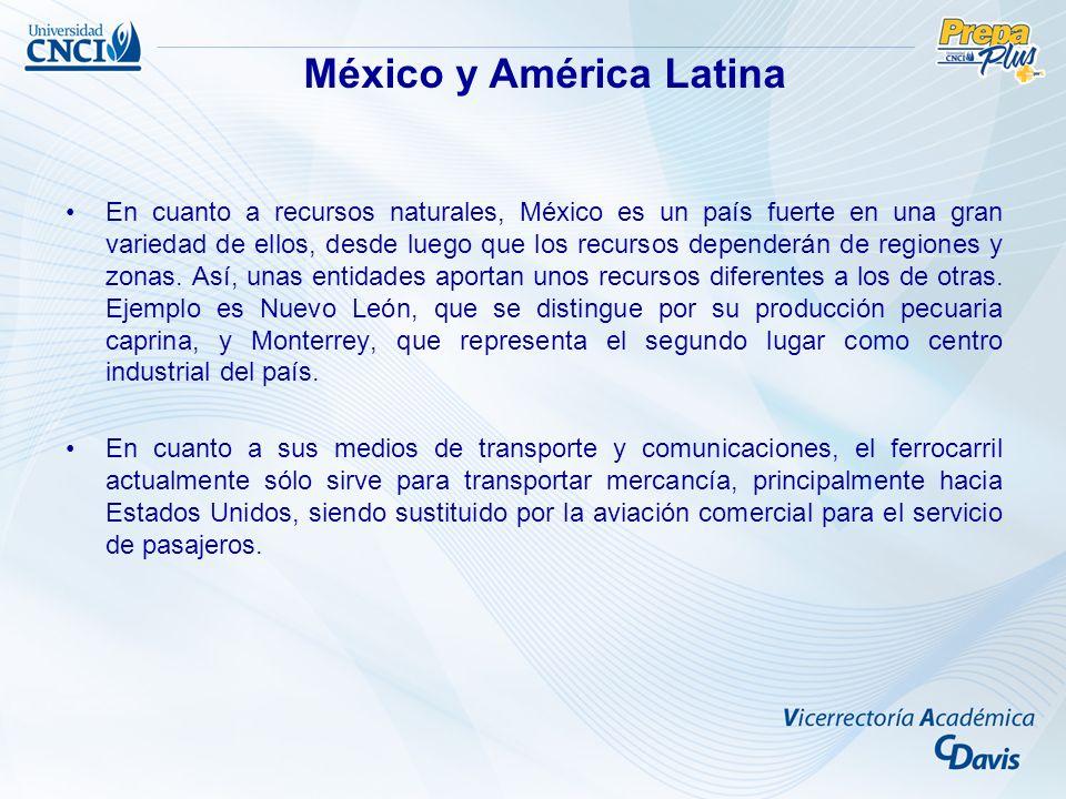 En cuanto a recursos naturales, México es un país fuerte en una gran variedad de ellos, desde luego que los recursos dependerán de regiones y zonas. A