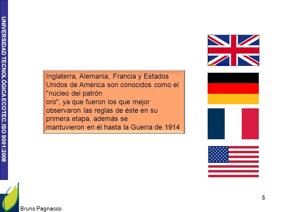 UNIVERSIDAD TECNOLÓGICA ECOTEC. ISO 9001:2008 Bruno Pagnacco 5 Inglaterra, Alemania, Francia y Estados Unidos de América son conocidos como el
