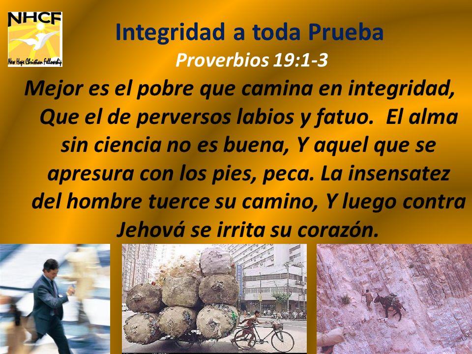 Fidelidad en Cualquier Situación Proverbios 30:1-2 Palabras de Agur, hijo de Jaqué; la profecía que dijo el varón a Itiel, a Itiel y a Ucal.