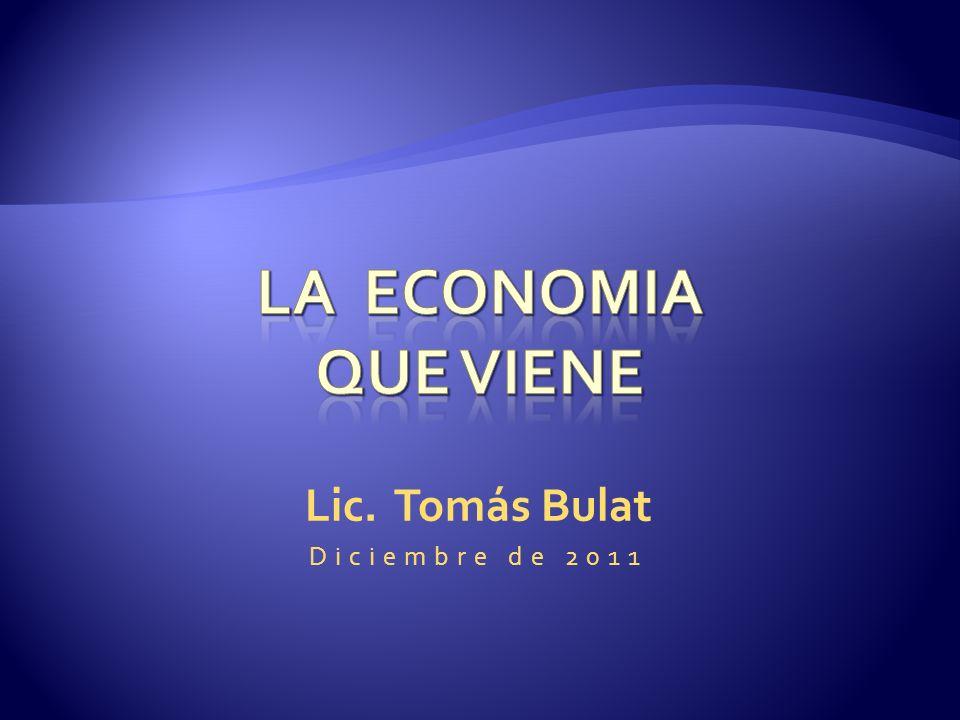 Lic. Tomás Bulat Diciembre de 2011