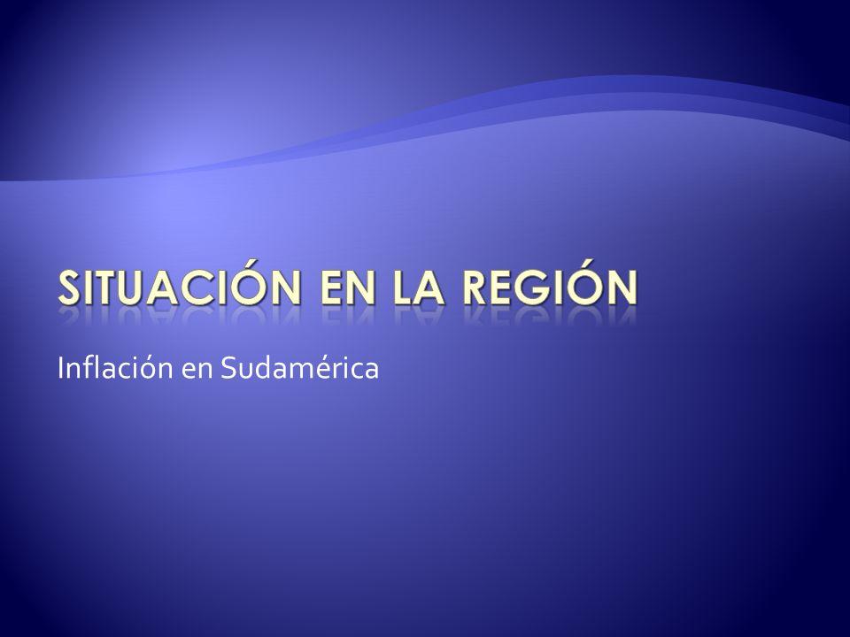 Inflación en Sudamérica