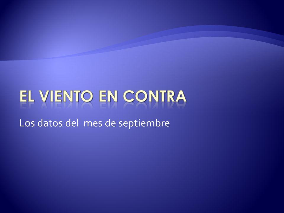 Los datos del mes de septiembre
