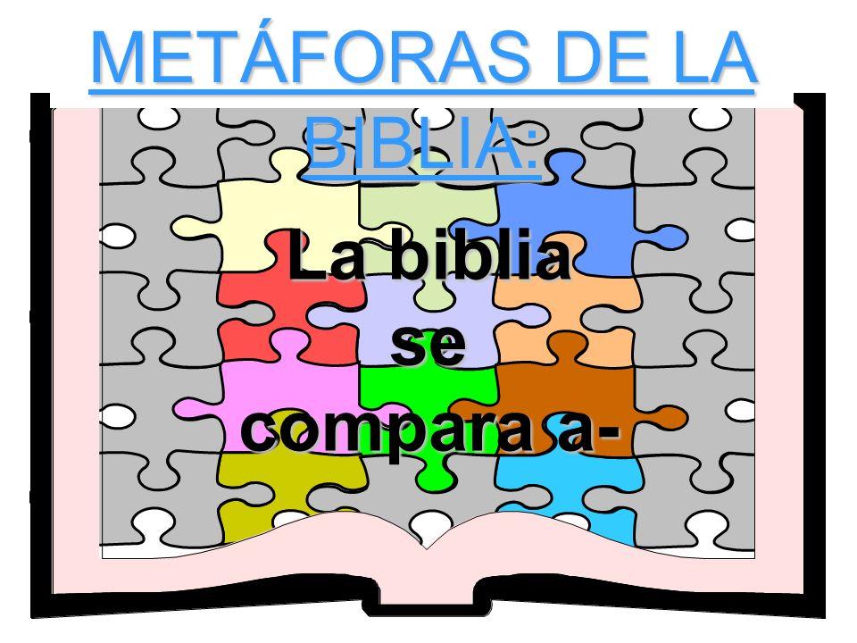 METÁFORAS DE LA BIBLIA: La biblia se compara a-
