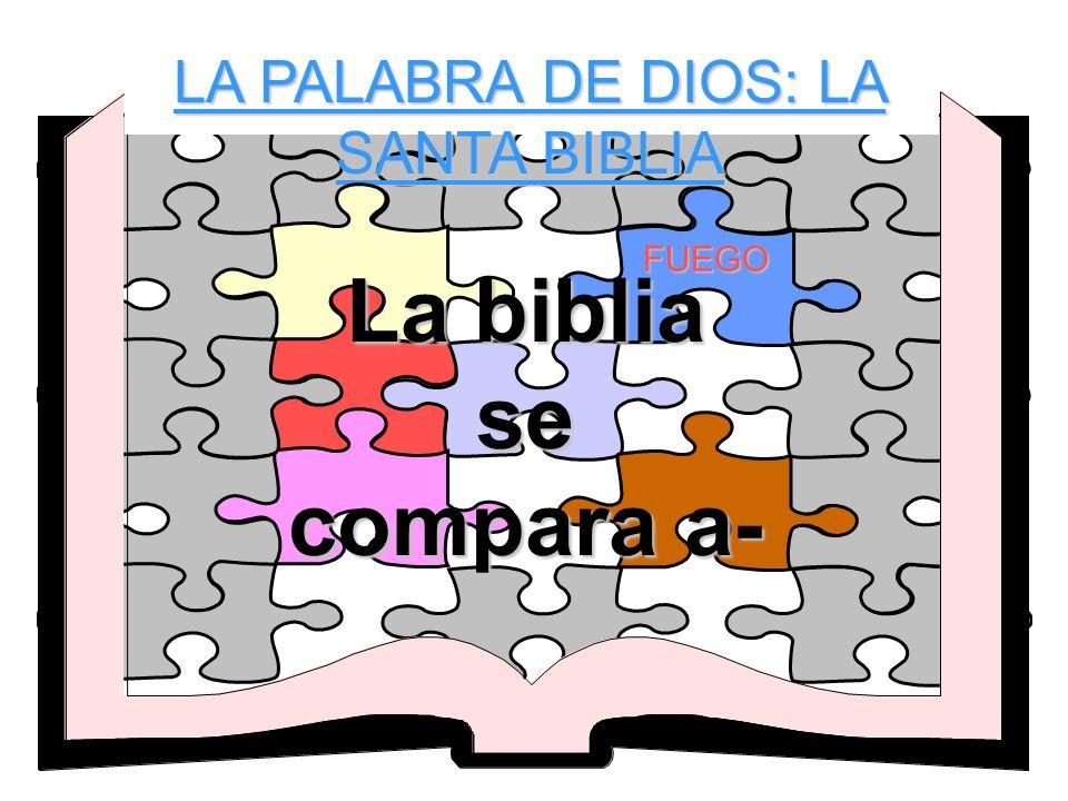 LA PALABRA DE DIOS: LA SANTA BIBLIA FUEGO La biblia se compara a-