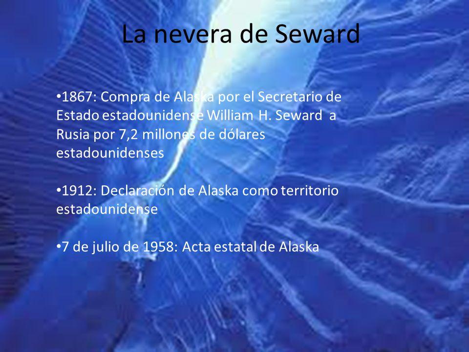 La nevera de Seward 1867: Compra de Alaska por el Secretario de Estado estadounidense William H. Seward a Rusia por 7,2 millones de dólares estadounid