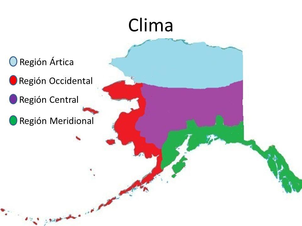 Clima Región Ártica Región Occidental Región Central Región Meridional