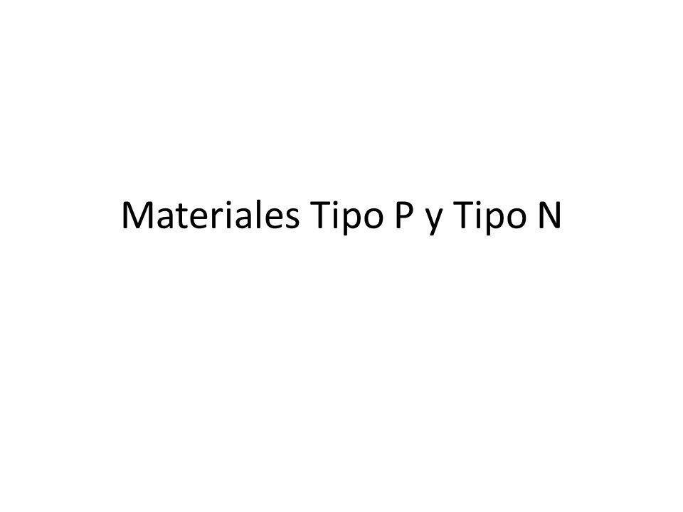 Materiales Tipo P y Tipo N