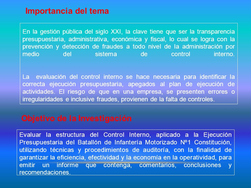BASE LEGAL Constitución de la Republica del Ecuador Ley Orgánica de la Contraloría General del Estado Ley de Presupuestos del sector Público LOAFYC Instructivo DH- j 604 Financiero para Unidades y Repartos Militares de la Fuerza Terrestre Políticas emitidas por el Ministerio de Defensa Nacional y el Comando Conjunto de las Fuerzas Armadas