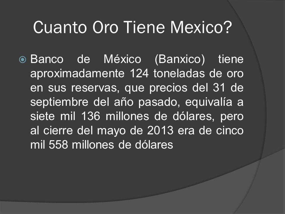Cuanto Oro Tiene Mexico.