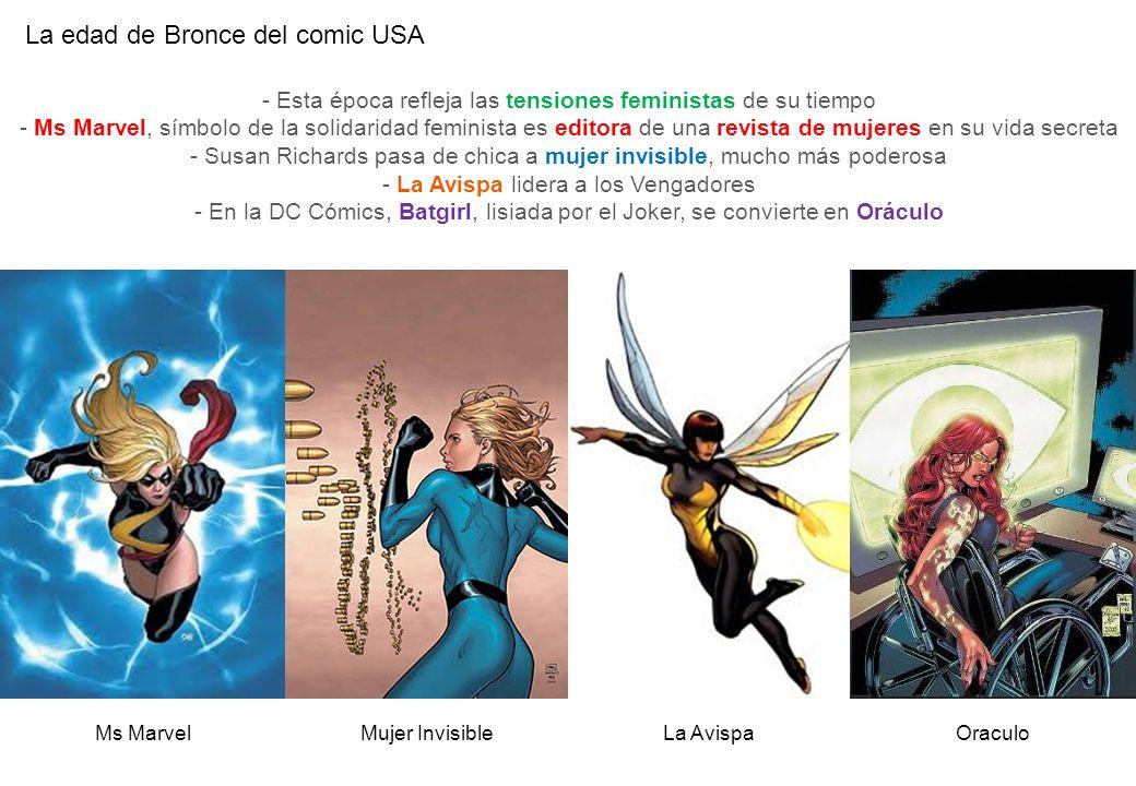 La edad de Bronce del comic USA Mujer InvisibleOraculoMs Marvel - Esta época refleja las tensiones feministas de su tiempo - Ms Marvel, símbolo de la
