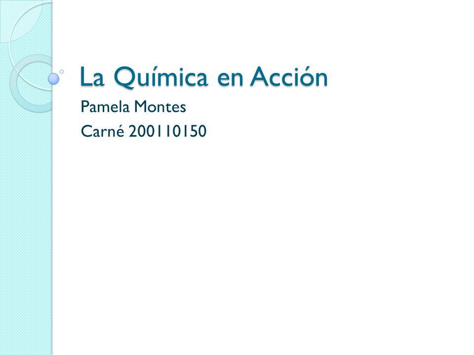 La Química en Acción Pamela Montes Carné 200110150
