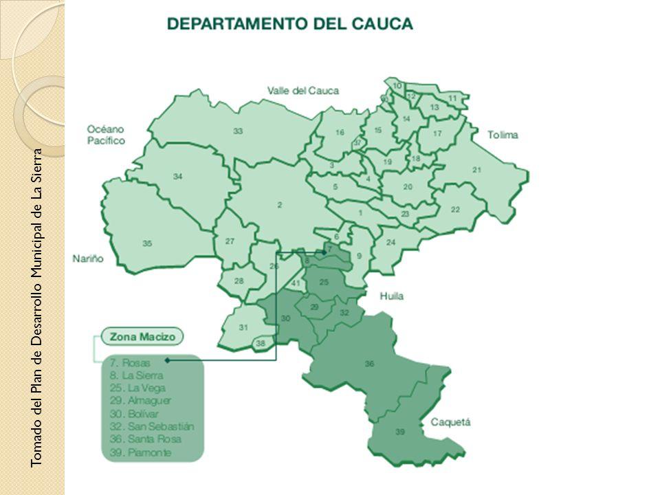 Tomado del Plan de Desarrollo Municipal de La Sierra