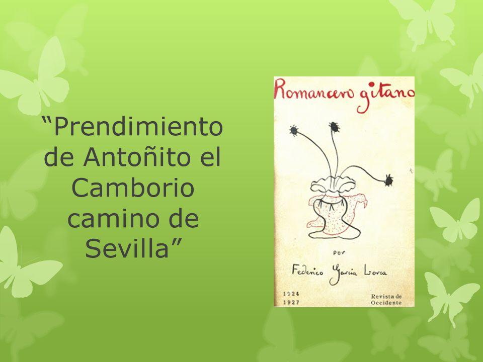Prendimiento de Antoñito el Camborio camino de Sevilla