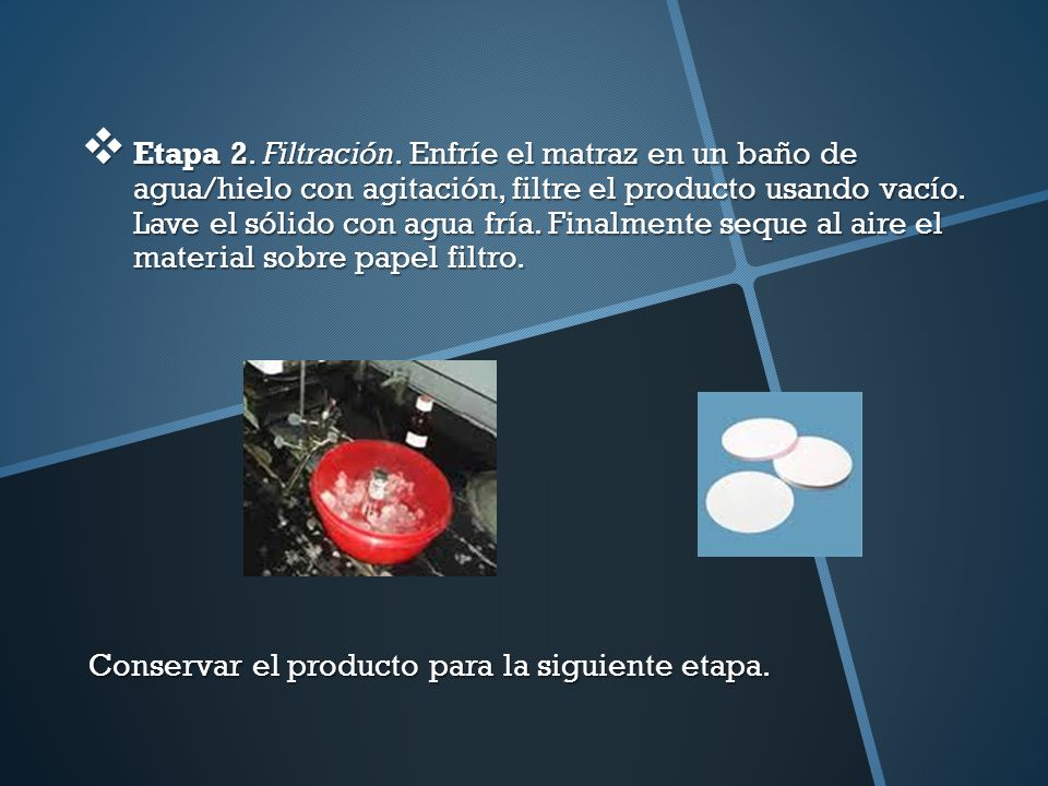 Etapa 2.Filtración.