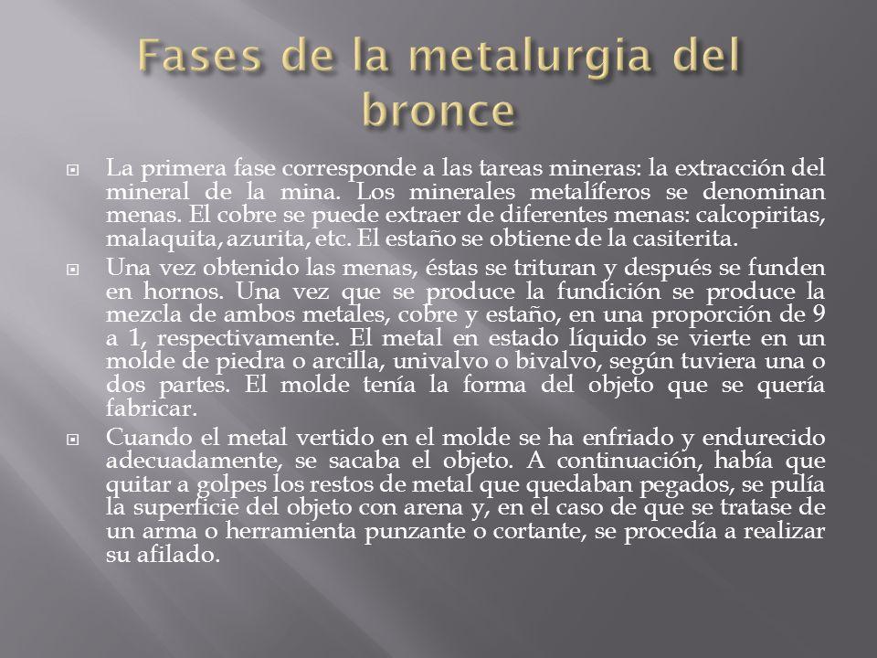 La primera fase corresponde a las tareas mineras: la extracción del mineral de la mina.