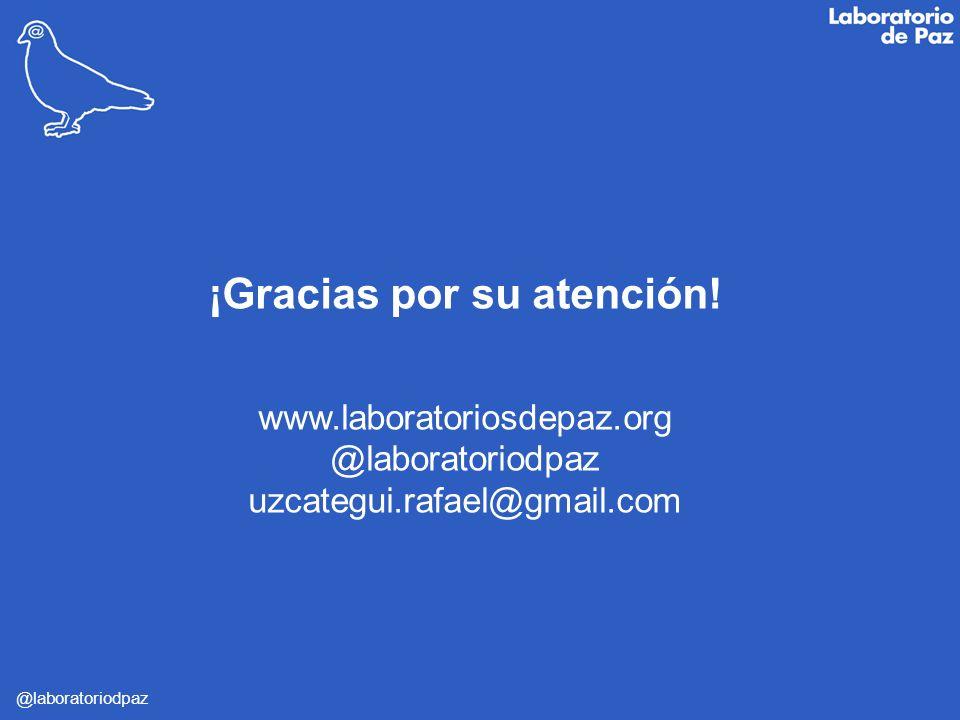 @laboratoriodpaz ¡Gracias por su atención! www.laboratoriosdepaz.org @laboratoriodpaz uzcategui.rafael@gmail.com