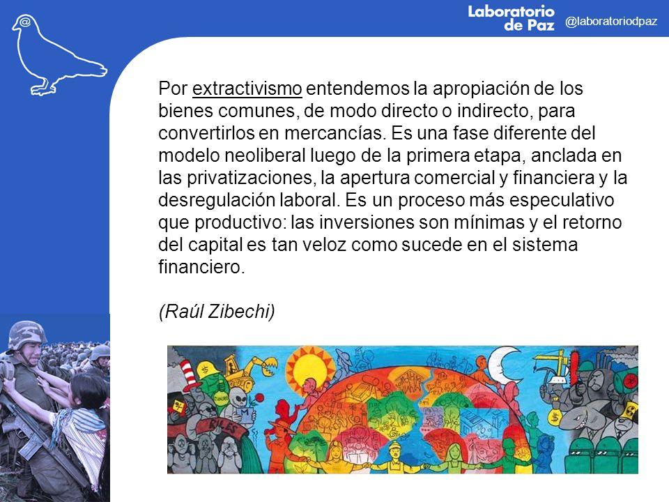 @laboratoriodpaz Por extractivismo entendemos la apropiación de los bienes comunes, de modo directo o indirecto, para convertirlos en mercancías. Es u