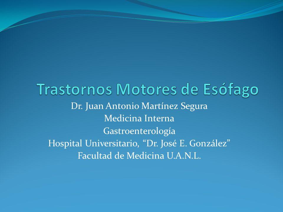 Dr. Juan Antonio Martínez Segura Medicina Interna Gastroenterología Hospital Universitario, Dr. José E. González Facultad de Medicina U.A.N.L.