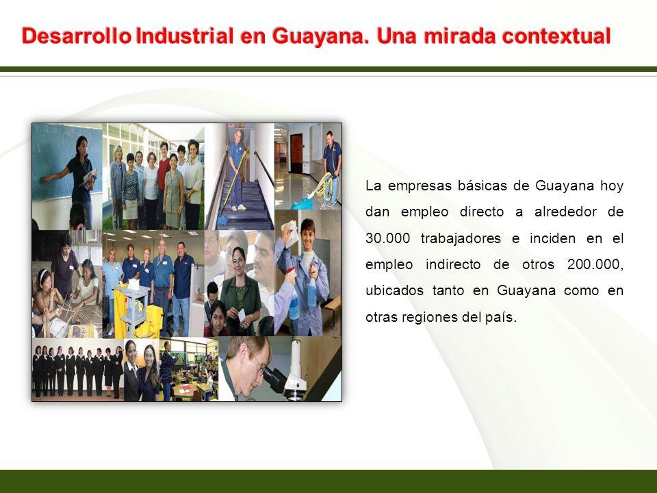 Page 10 Desarrollo Industrial en Guayana. Una mirada contextual La empresas básicas de Guayana hoy dan empleo directo a alrededor de 30.000 trabajador