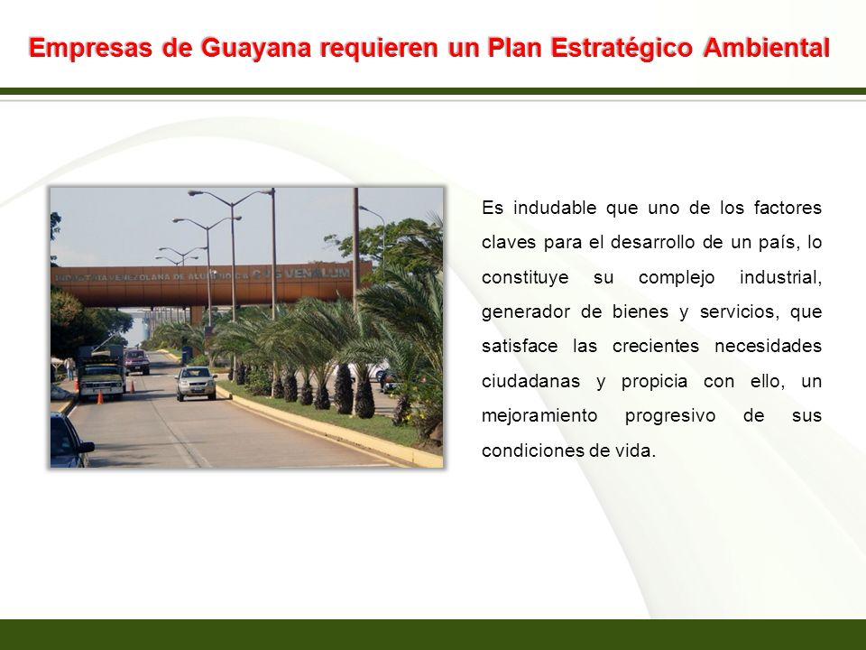 Page 13 Empresas de Guayana requieren un Plan Estratégico Ambiental Es indudable que uno de los factores claves para el desarrollo de un país, lo cons