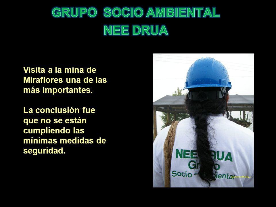 Visita a la mina de Miraflores una de las más importantes. La conclusión fue que no se están cumpliendo las mínimas medidas de seguridad.