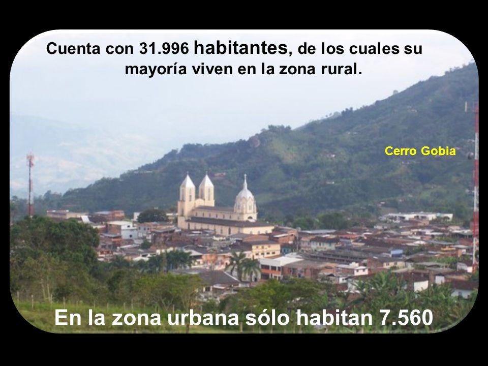 Cuenta con 31.996 habitantes, de los cuales su mayoría viven en la zona rural. En la zona urbana sólo habitan 7.560 Cerro Gobia