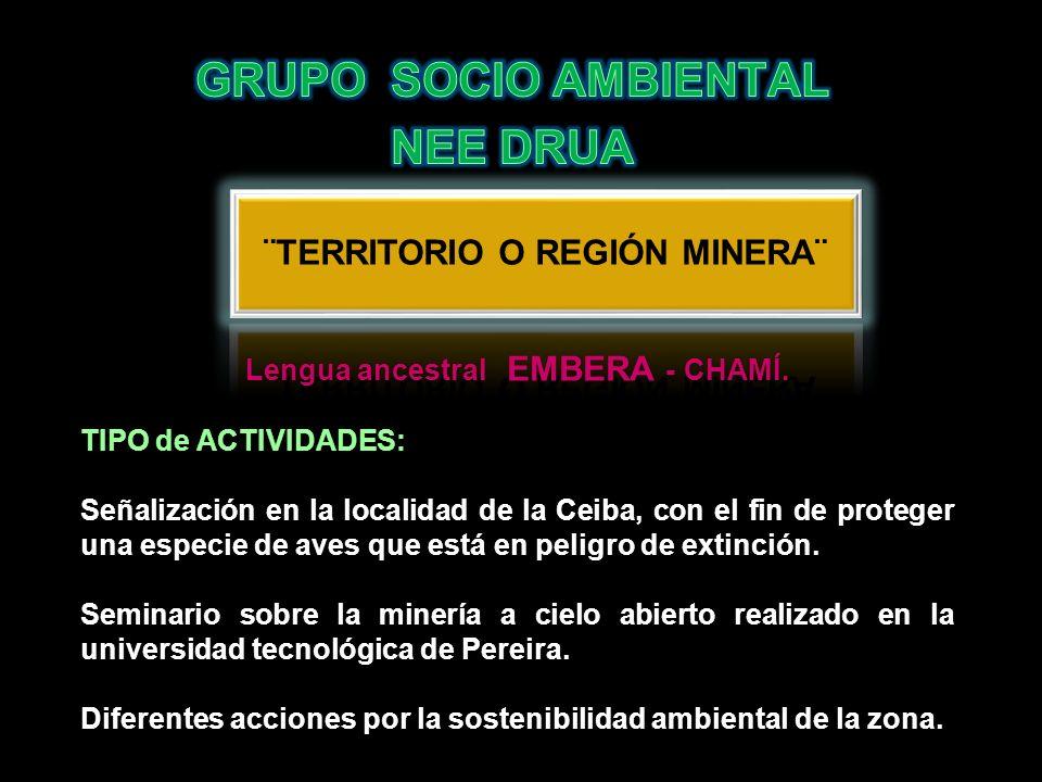 Lengua ancestral EMBERA - CHAMÍ. TIPO de ACTIVIDADES: Señalización en la localidad de la Ceiba, con el fin de proteger una especie de aves que está en