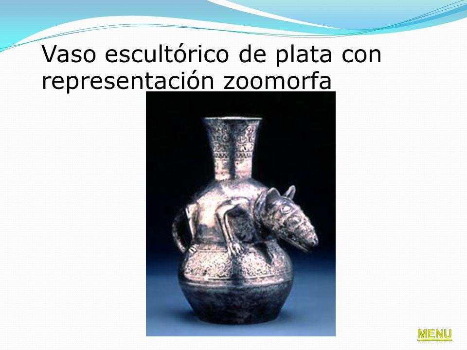 Vaso escultórico de plata con representación zoomorfa