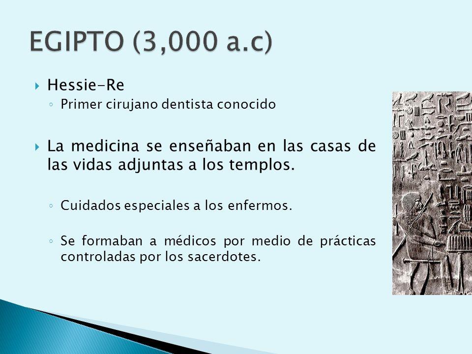 Nepher Ir Ethes (fabricante de dientes) Algunas momias presentaban infecciones graves, caries y pérdidas de piezas dentarias aunque también se han descrito dientes con sujeciones artificiales y prótesis con bandas y alambres de oro.