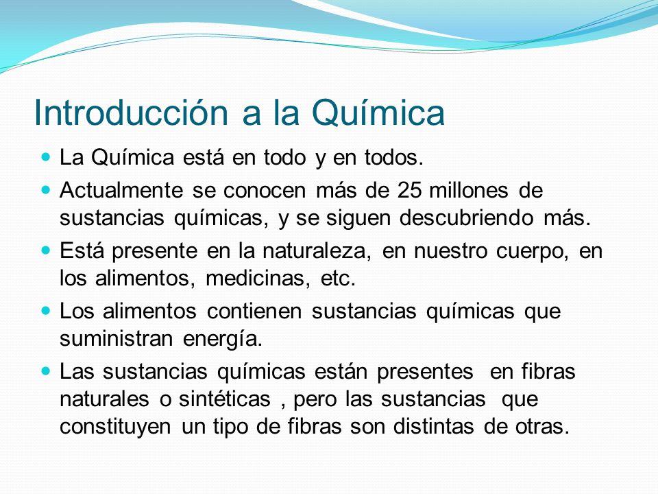 Introducción a la Química Las medicinas están constituidas por sustancias químicas, relación riesgo-beneficio.