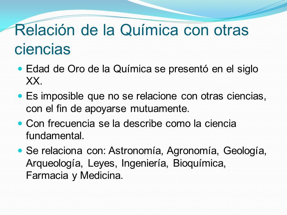 Relación de la Química con otras ciencias Astronomía: Composición de cometas, Planetas, estrellas, etc.