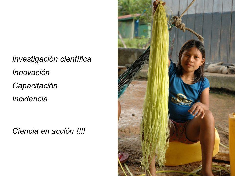 Investigación científica Innovación Capacitación Incidencia Ciencia en acción !!!!