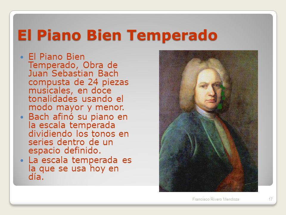 Notas musicales: La escala diatónica Francisco Rivero Mendoza16 FrecuenciaRazón nota anterior TónicafDo Segunda9/8 f9/8Re Tercera81/64 f9/8Mi Cuarta4/