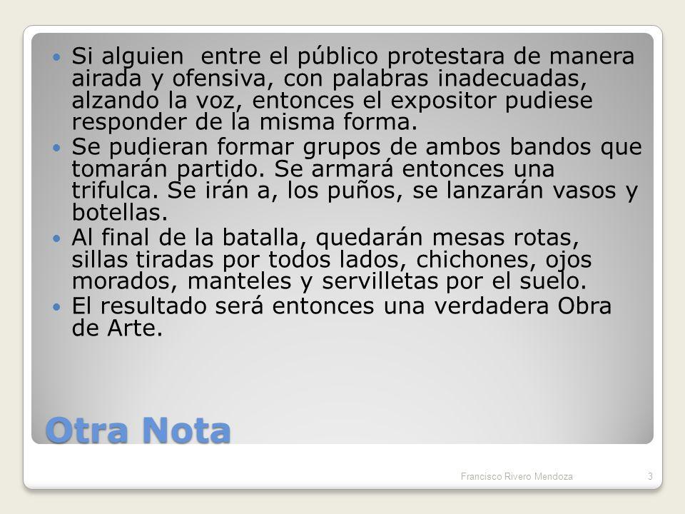 Nota de Advertencia.