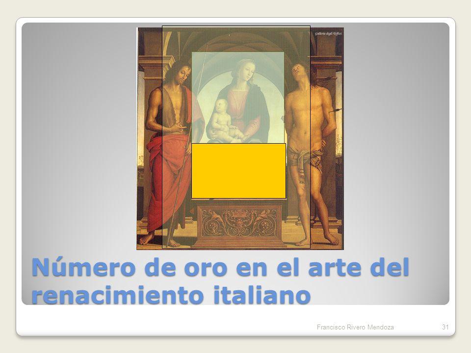 El rectángulo dorado Francisco Rivero Mendoza30 1 1 x x (X + 1) : x = x : 1 X = ( 1 + 5 ) / 2 1.56