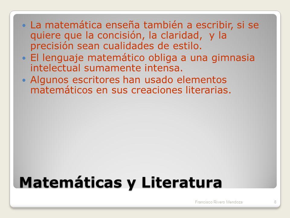 Relaciones líricas En su estructura, la poesía tiene algo de matemáticas en la periodicidad, tanto de las sensaciones fonéticas ( rima) como de acento