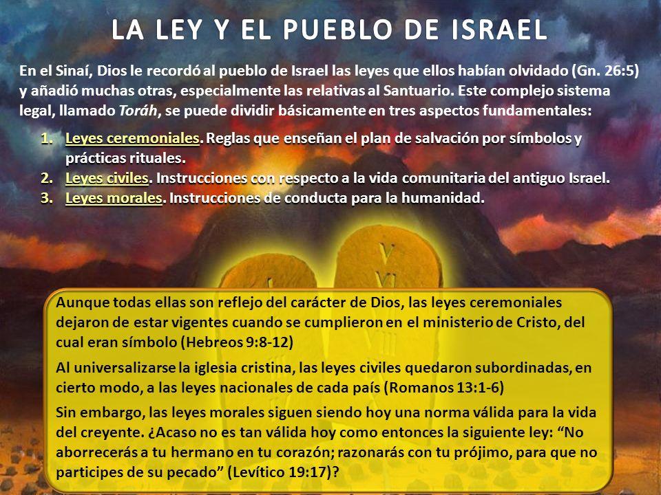 En el Sinaí, Dios le recordó al pueblo de Israel las leyes que ellos habían olvidado (Gn.
