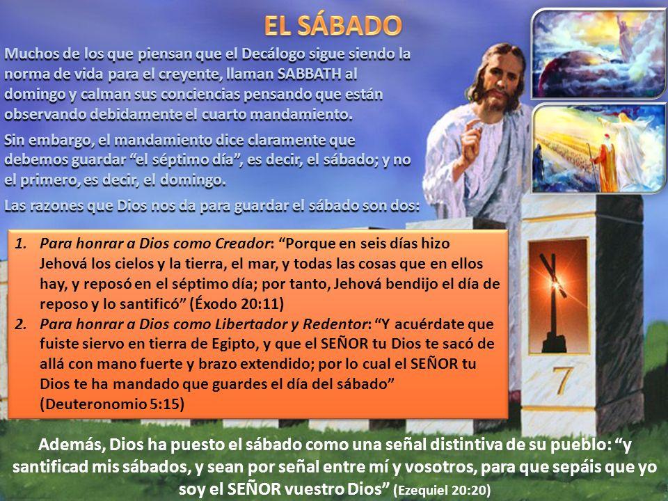 Muchos de los que piensan que el Decálogo sigue siendo la norma de vida para el creyente, llaman SABBATH al domingo y calman sus conciencias pensando que están observando debidamente el cuarto mandamiento.