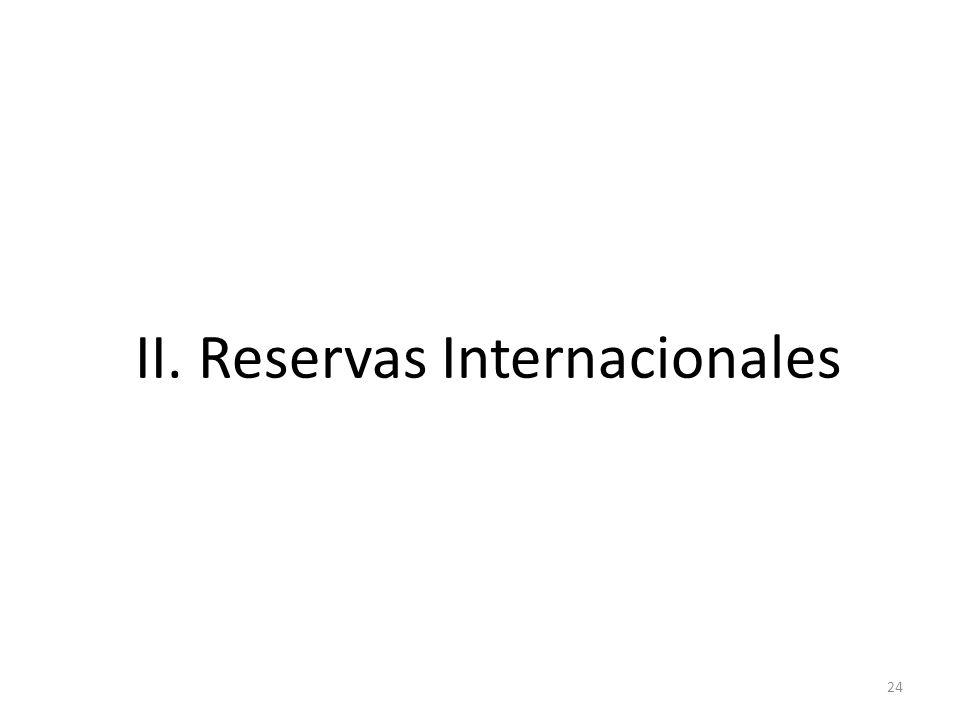 24 II. Reservas Internacionales