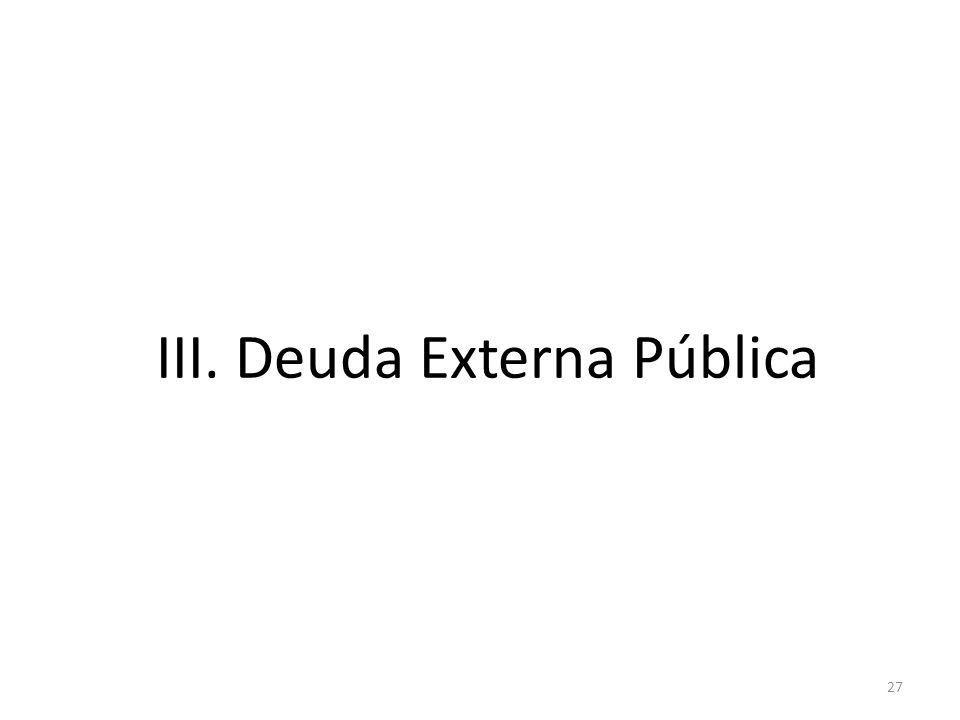 27 III. Deuda Externa Pública