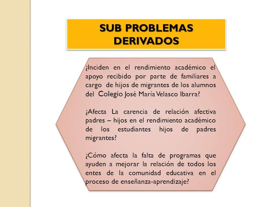 ¿Inciden en el rendimiento académico el apoyo recibido por parte de familiares a cargo de hijos de migrantes de los alumnos del Colegio José María Vel