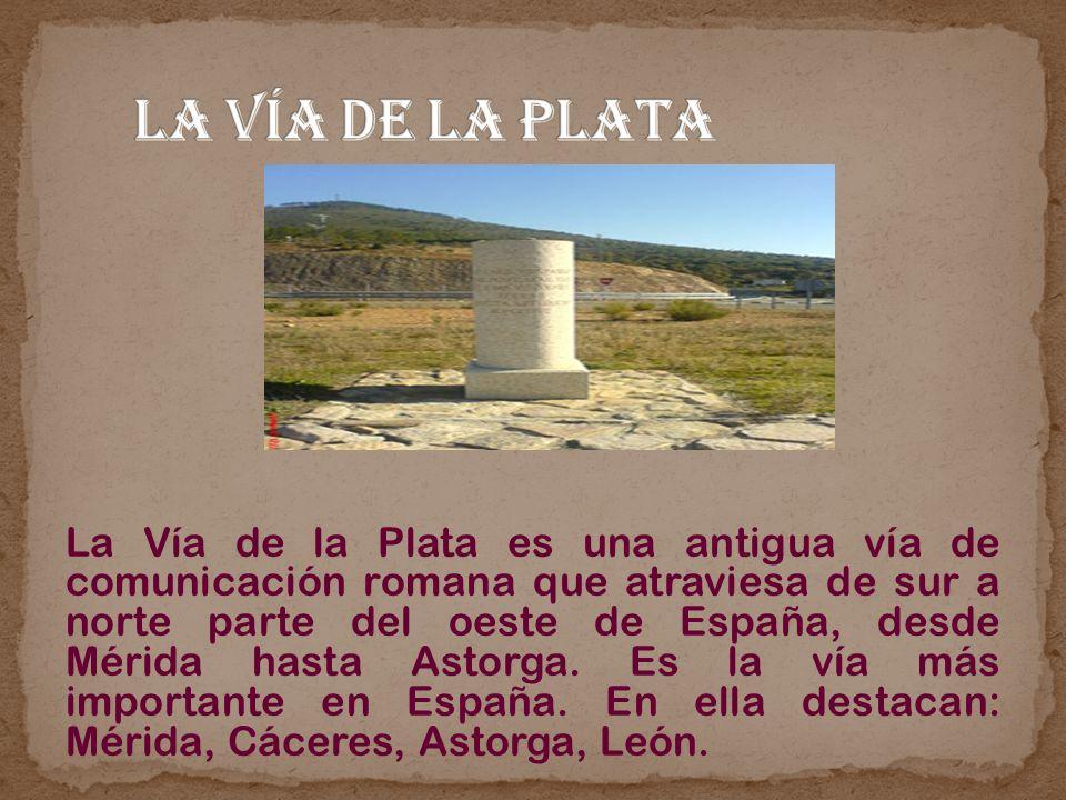 La Vía de la Plata es una antigua vía de comunicación romana que atraviesa de sur a norte parte del oeste de España, desde Mérida hasta Astorga. Es la