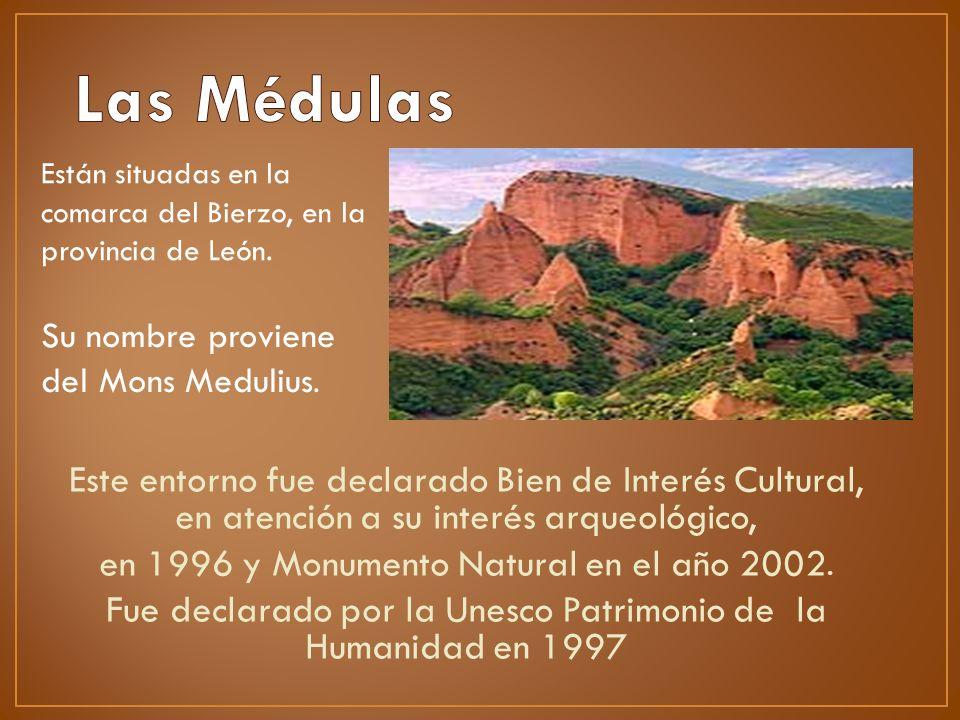 Este entorno fue declarado Bien de Interés Cultural, en atención a su interés arqueológico, en 1996 y Monumento Natural en el año 2002. Fue declarado