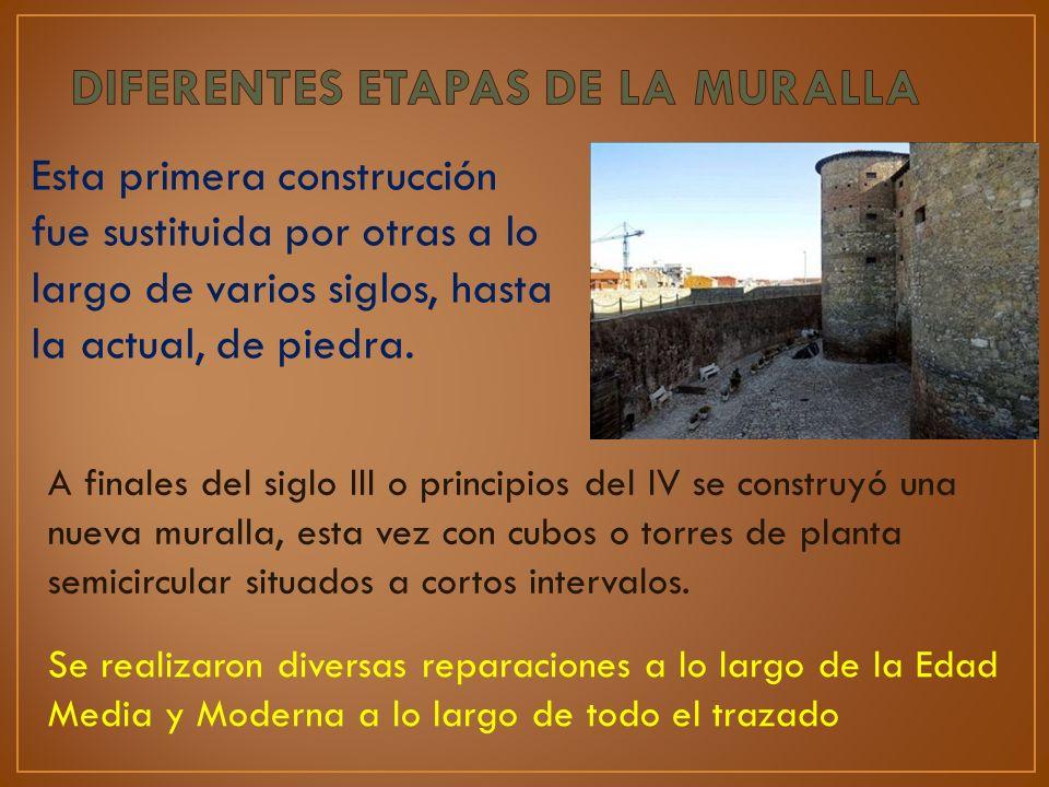 Esta primera construcción fue sustituida por otras a lo largo de varios siglos, hasta la actual, de piedra. A finales del siglo III o principios del I