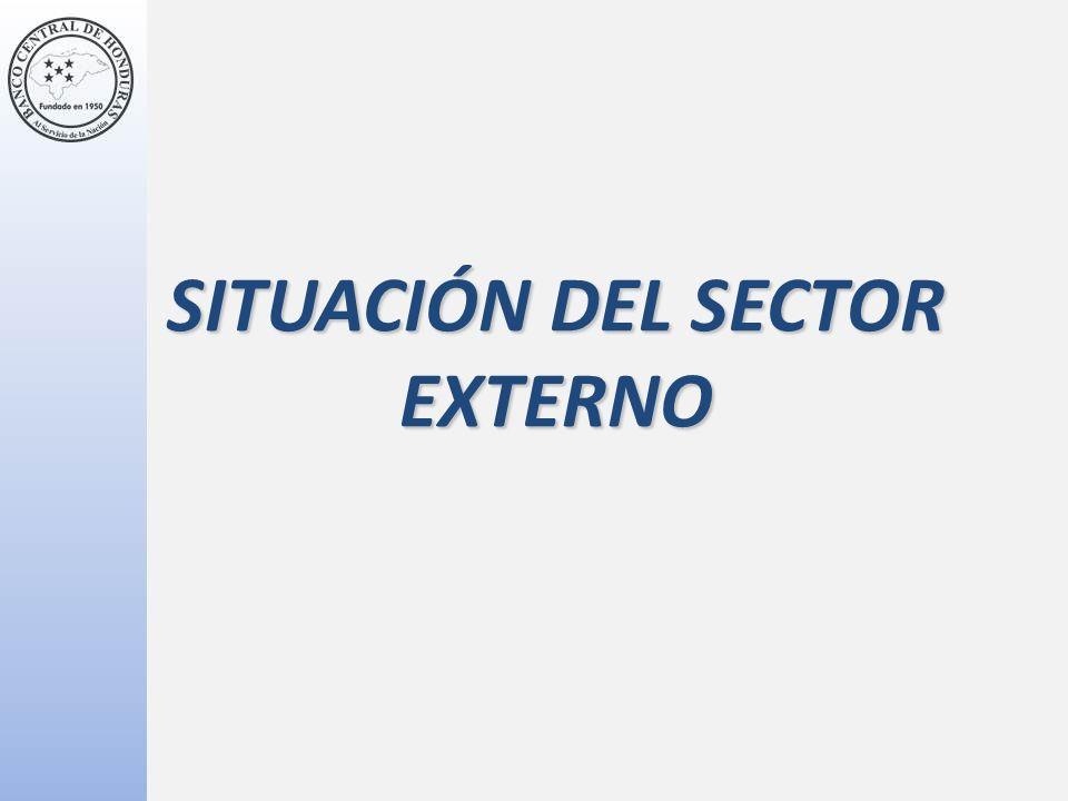 SITUACIÓN DEL SECTOR EXTERNO